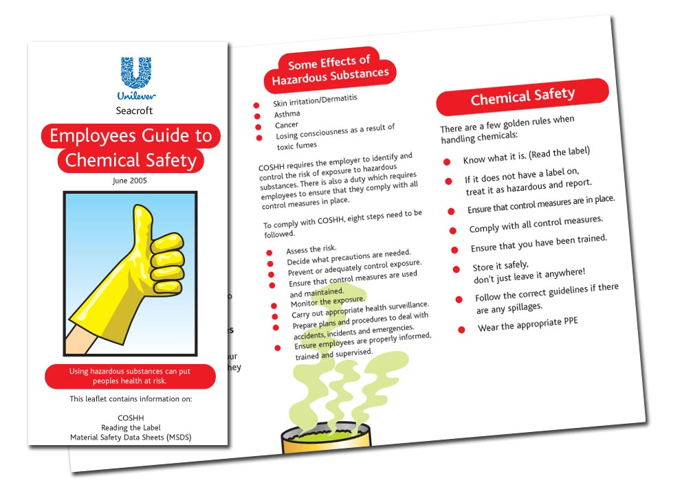 Employees Guide To Chemical Safety, Illustrated brochure