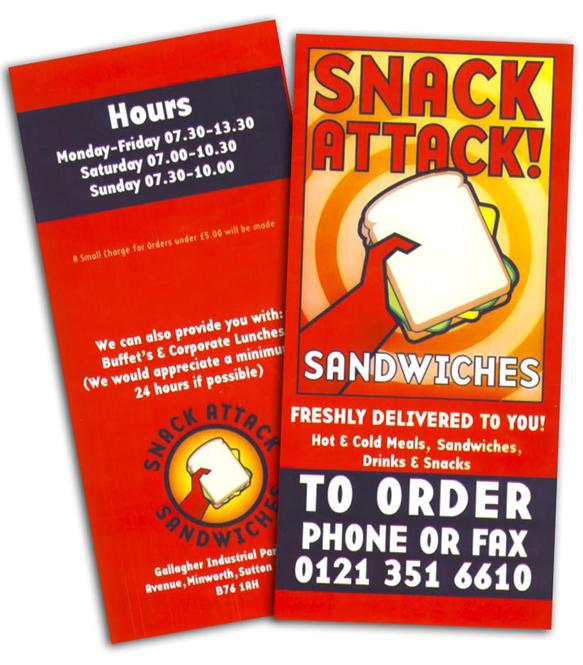 Snack Attack Leaflet